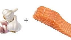 Чеснок и лосось