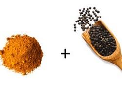 Куркума и черный перец