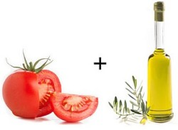Помидоры с оливковым маслом
